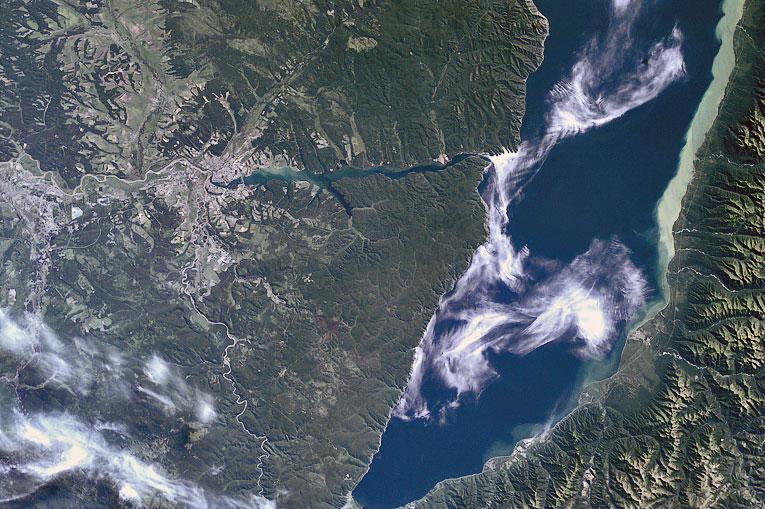 Фото озера Байкал, сделанные с космических аппаратов.