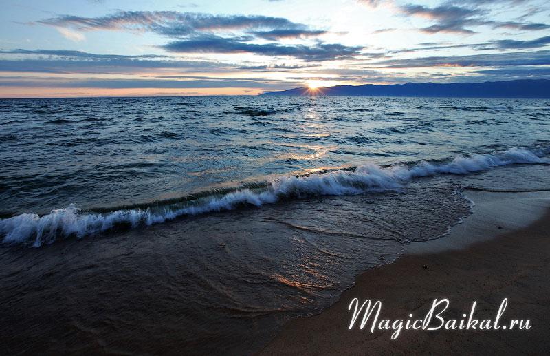 Заход солнца в Баргузинском заливе