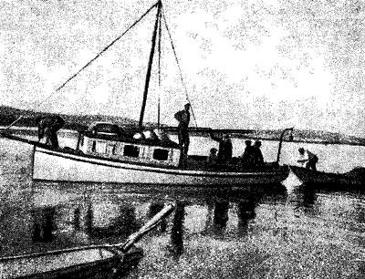 Первое исследовательское судно на Байкале- катер «Чайка».
