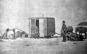 Экспедиция Дыбовского на льду Байкала